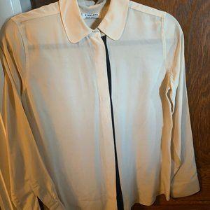 100% silk Everlane cream colored blouse